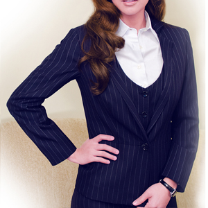 Pinstripe Suit With Topcoat