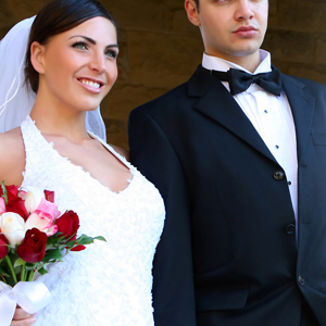 Couples Wearing Hiras Wedding Suits